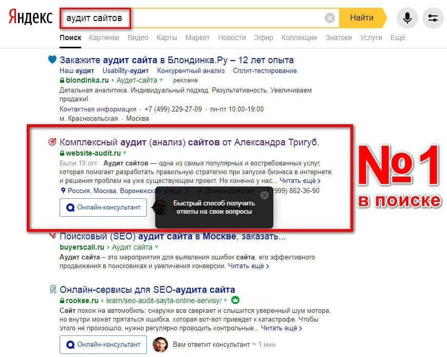 websiteauditor.ru - Сайт №1 по аудиту сайтов